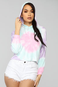 Blending In Tie Dye Pullover - Multi