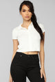 Right On Time Collared Top - White