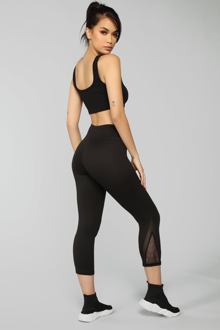 First On The Track Active Legging - Black