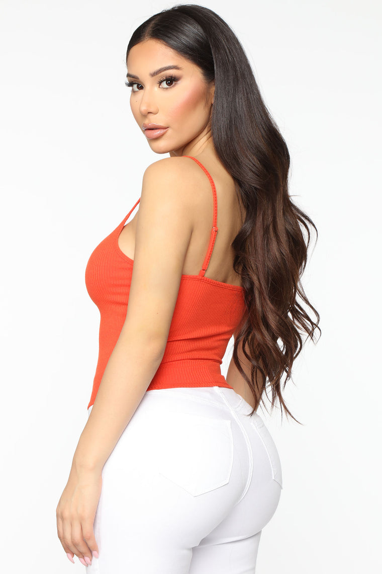 Basically Ruched Cami Top - Coral