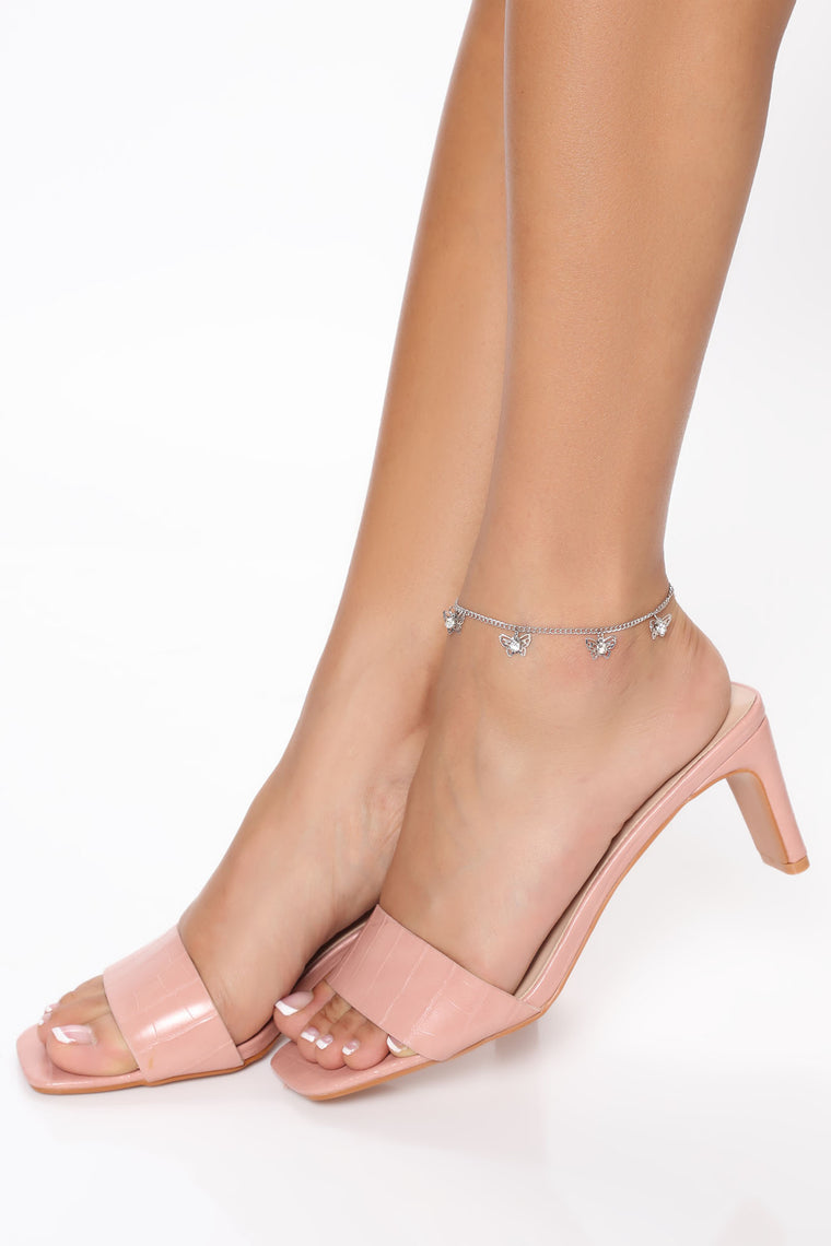 Butterfly Dreams Anklet - Silver