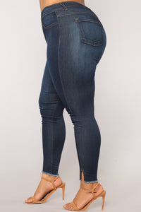 Helen High Rise Denim Jeans - Dark Denim