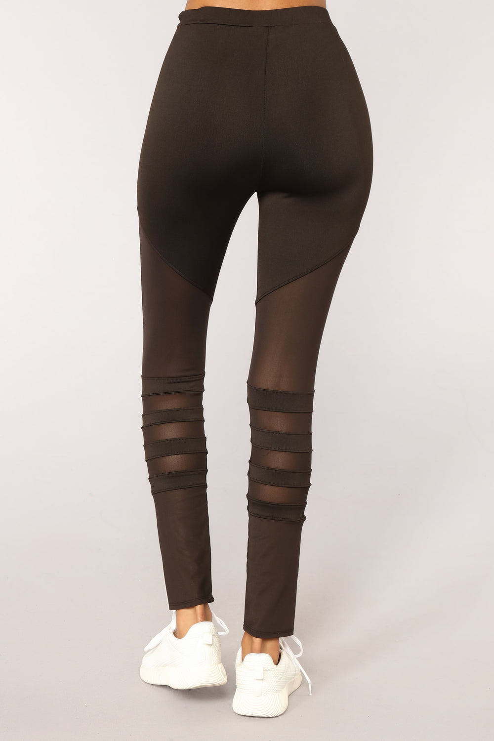 Keep Me Balanced Moto Mesh Leggings - Black