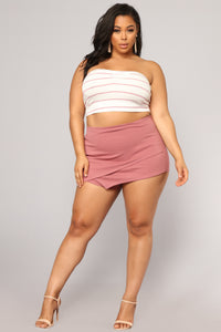 What's In The Envelope Skirt - Mauve