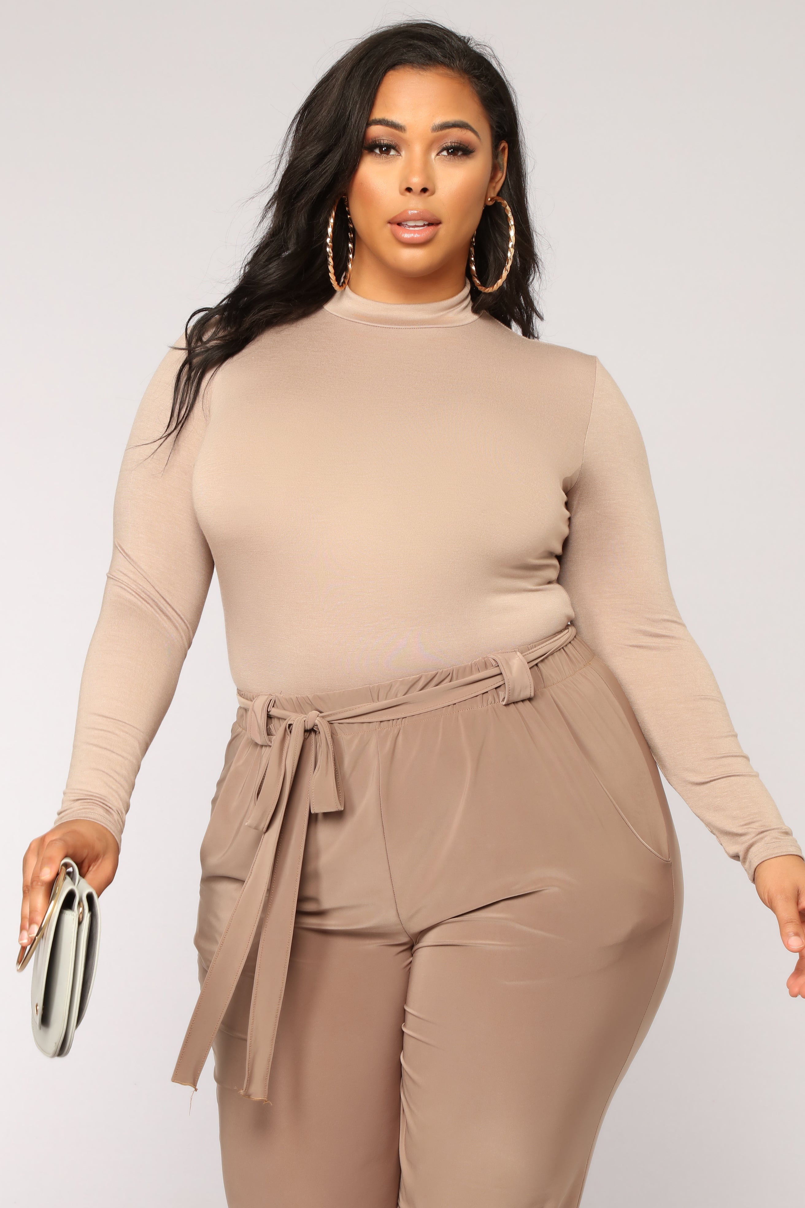 You Coming With Bodysuit - Taupe. plus-size 09604e760
