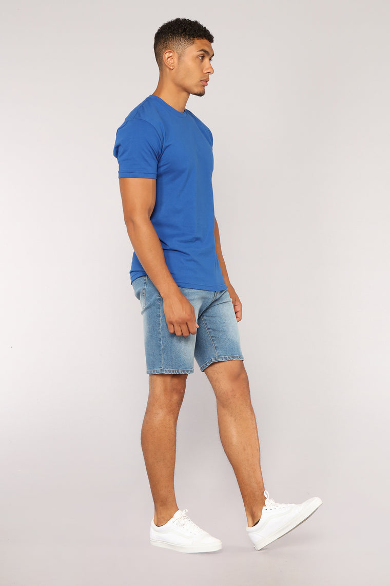 Vinny Denim Shorts - Denim