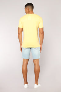 Vinny Denim Shorts - LightBlueWash