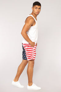 Marshall Board Shorts - Red Multi