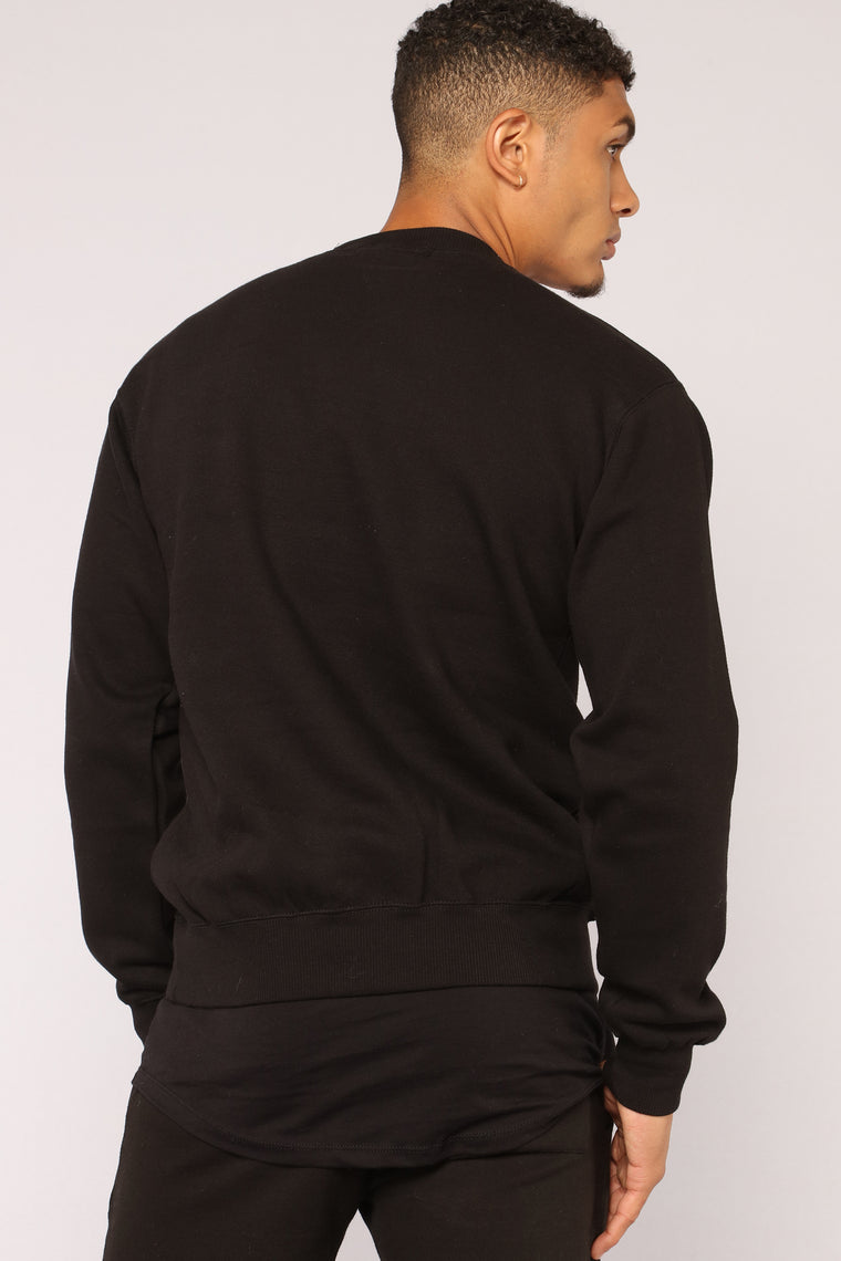 Kurt Crew Sweatshirt - Black