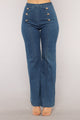 Hey Sailor Wide Leg Jeans - Medium Wash