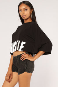 All About The Hustle Tee - Black Angle 4