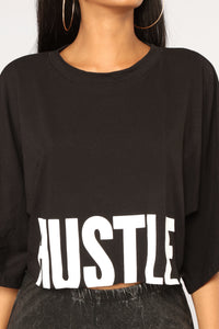 All About The Hustle Tee - Black Angle 2