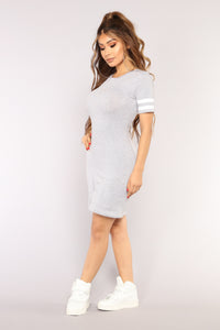 First Team Tunic - Heather Grey/White
