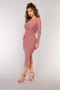 Trust Issues Mesh Dress - Mauve