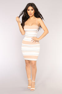 Keep Your Promises Knit Dress - Nude Multi
