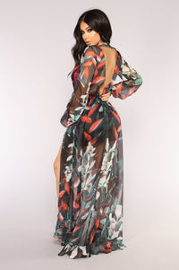 Wild Thorns Floral Dress - Black/Multi