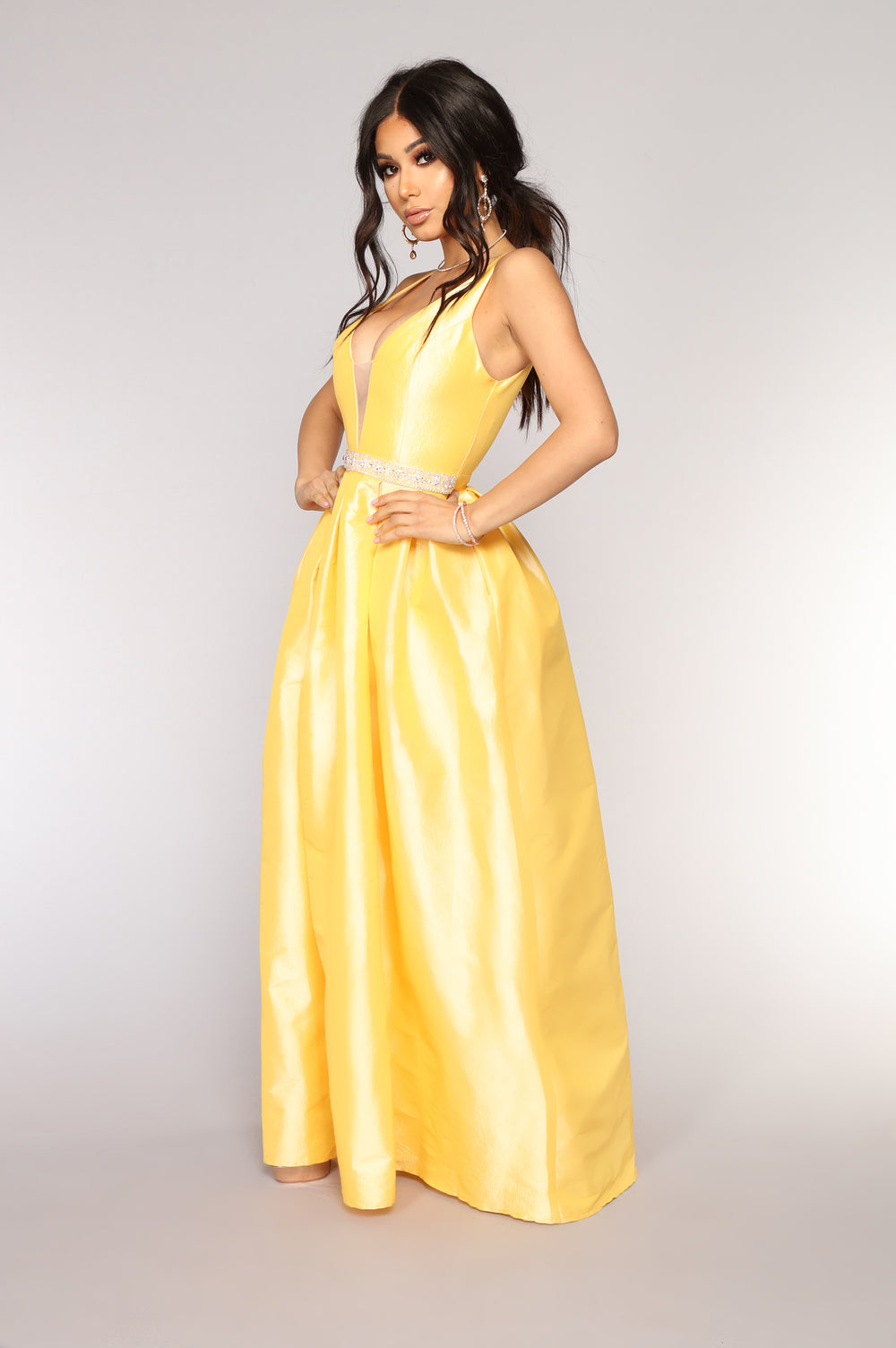 You Coming Back Maxi Dress - Yellow