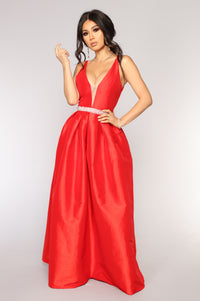 You Coming Back Maxi Dress - Red