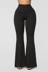 Still Wishing Flare Pants - Black