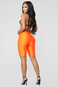 Curves For Days Biker Shorts - Orange Angle 3