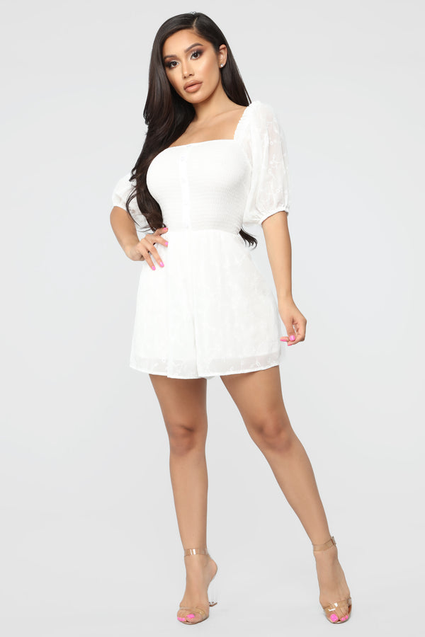 0edc06e0499 Every Girl Needs Chiffon Romper - White