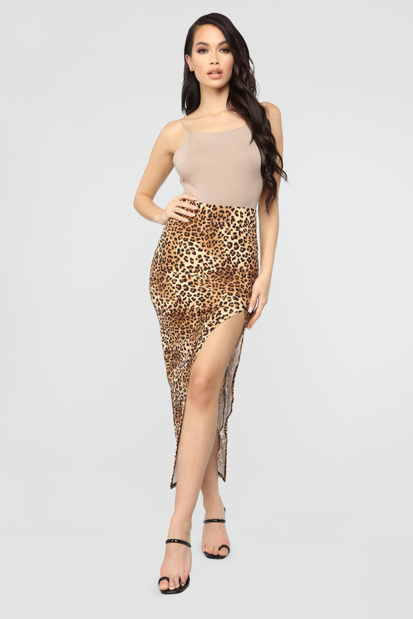 82af1a76885a2 Spicy Wifey Leopard Midi Skirt - Leopard