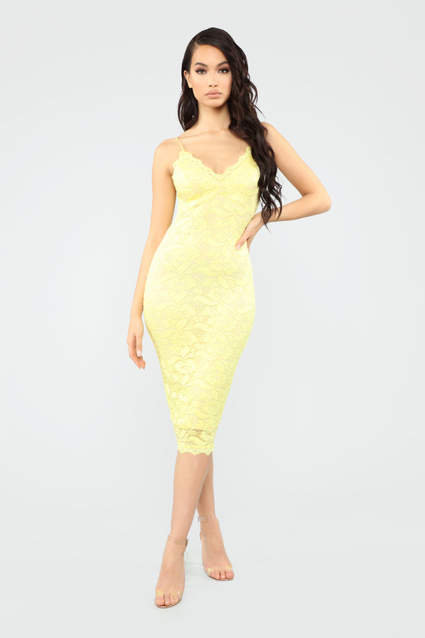 a2530a43433 All About Me Midi Dress - Yellow