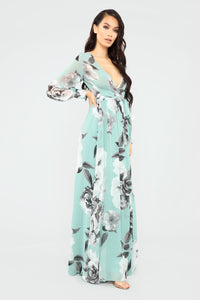 Hana Floral Dress - Mint/Multi Angle 3