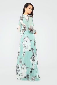 Hana Floral Dress - Mint/Multi Angle 4