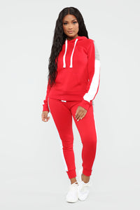 Analissa Pullover Hoodie - Red Angle 2
