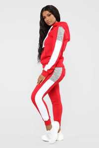 Analissa Pullover Hoodie - Red Angle 4