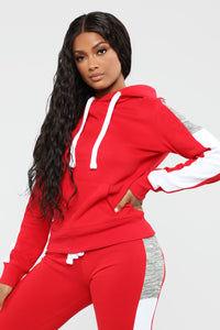 Analissa Pullover Hoodie - Red Angle 1