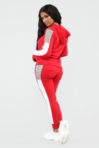 Analissa Pullover Hoodie - Red Angle 5