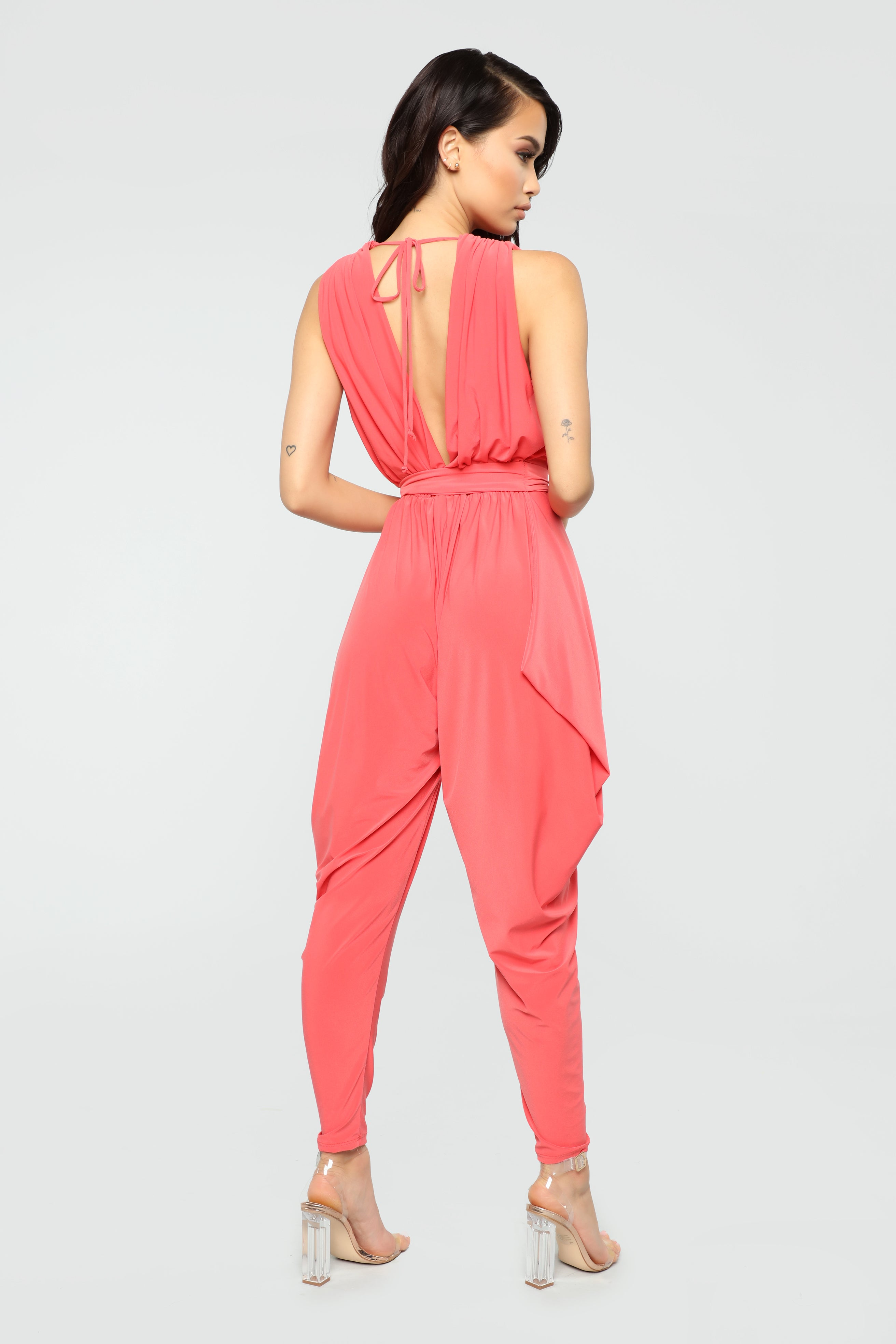 728e95fbe0d1 Queen Of All Harem Jumpsuit - Coral