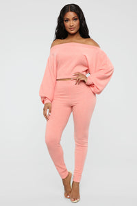 Feelin' Bubbly Pant Set - Coral Angle 1