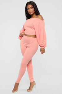 Feelin' Bubbly Pant Set - Coral Angle 4
