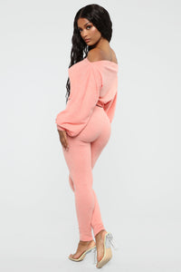 Feelin' Bubbly Pant Set - Coral Angle 7