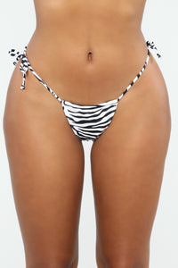 Ibiza Mix And Match String Bikini Bottom - Black/White