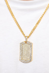 Tag Along Necklace - Gold