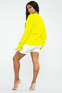 JPN Rise Long Sleeve Top - Neon Yellow