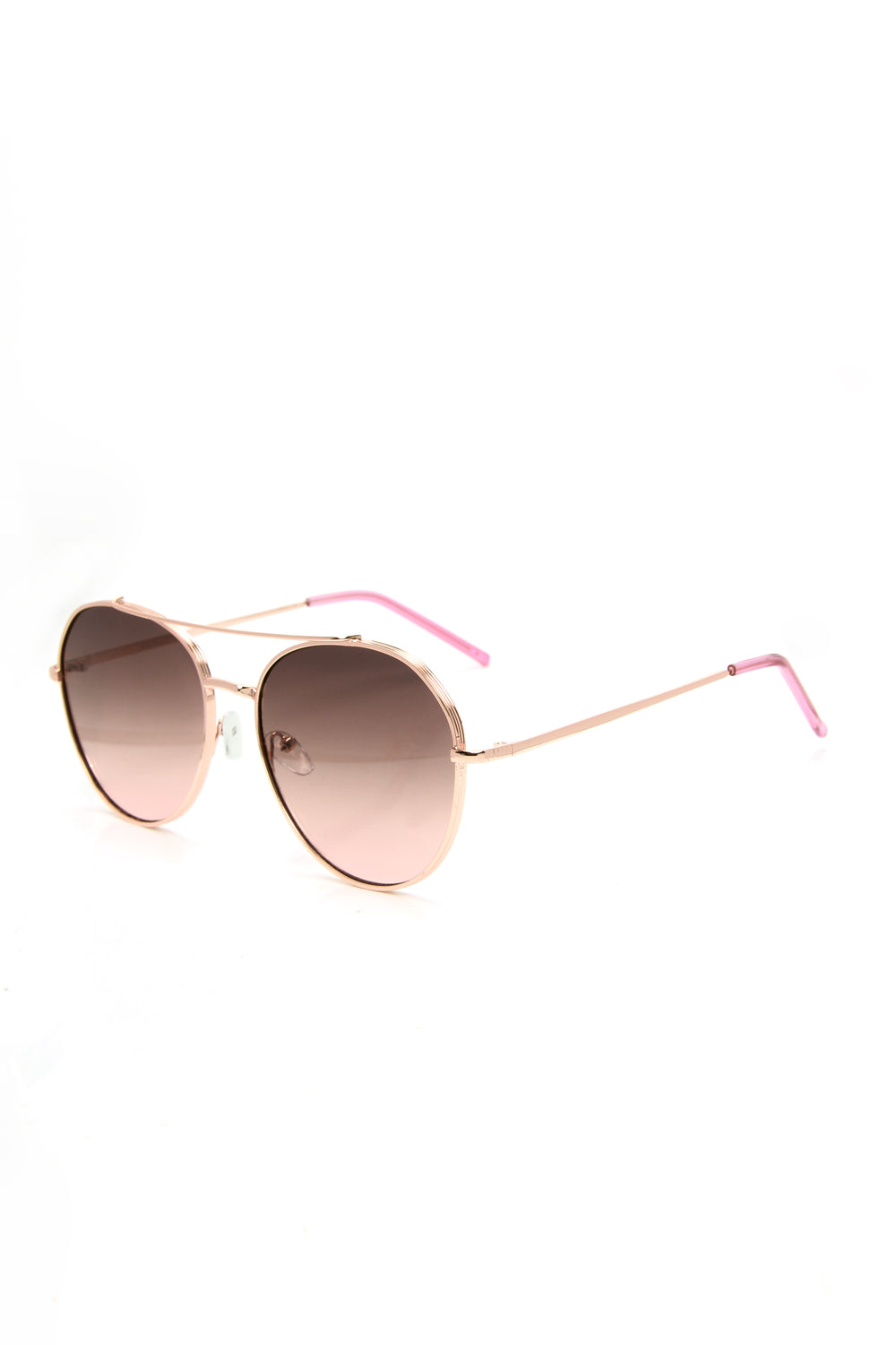 Get A Clue Sunglasses - Pink/RoseGold