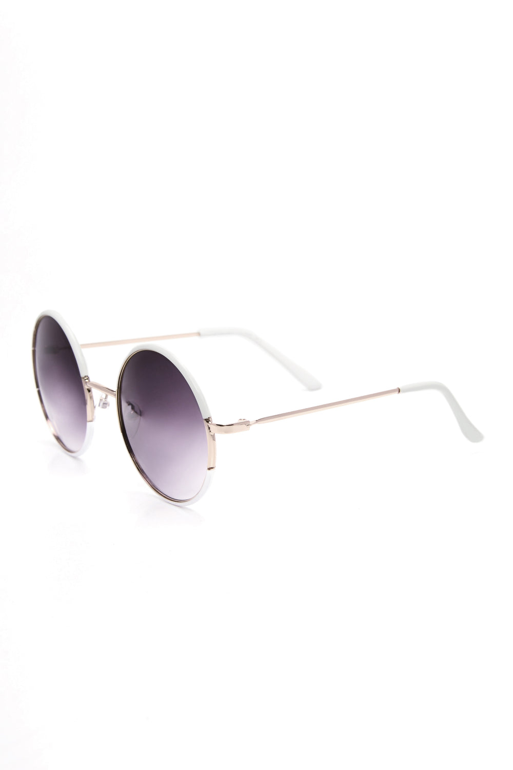 Sahara Round Sunglasses - White