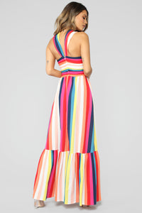 Seeing Colors Multi Stripe Dress - Multi