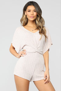 Twist Of Drama Romper - Pink