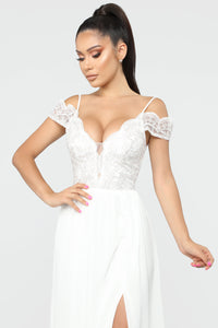 The Perfect Fairy Tale Chiffon Gown - White