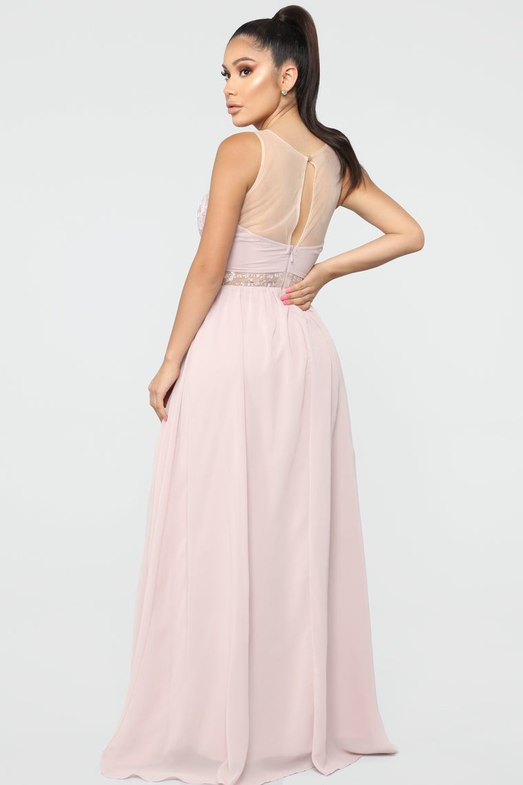 Ready For The Ball Chiffon Gown - Mauve