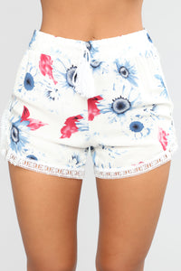 If You Only Knew High Rise Printed Short - White