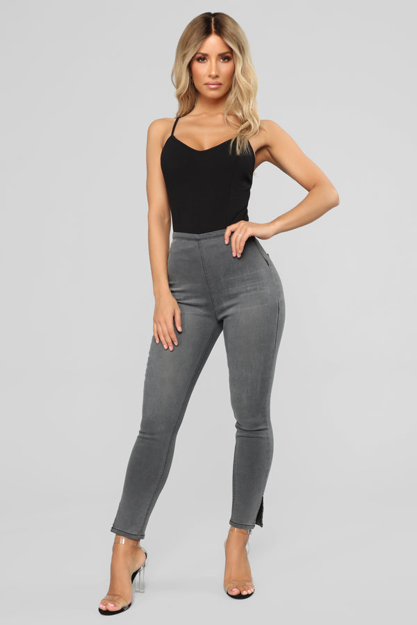 Hot And Ready High Rise Ankle Jeans - Grey 065624f0a
