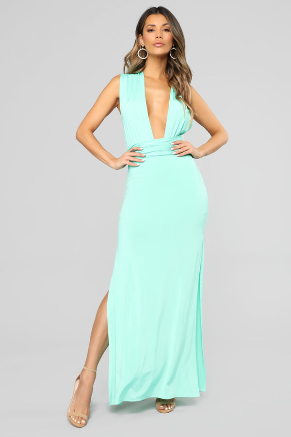Exaggerated In Style Maxi Dress - Mint 1a6ff3a47