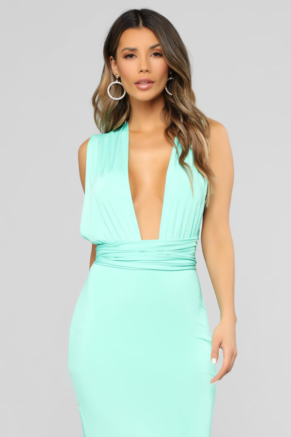 16dcda0907280b Exaggerated In Style Maxi Dress - Mint
